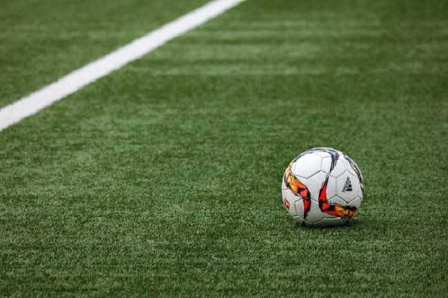 Campo di calcio palla